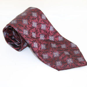 Dolce and Gabbana Neck Tie Mens Floral Geometric